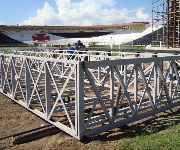 Execução da instalação do spda para estádio de futebol, Rio de Janeiro | Kabelweg Engenharia -KWE.